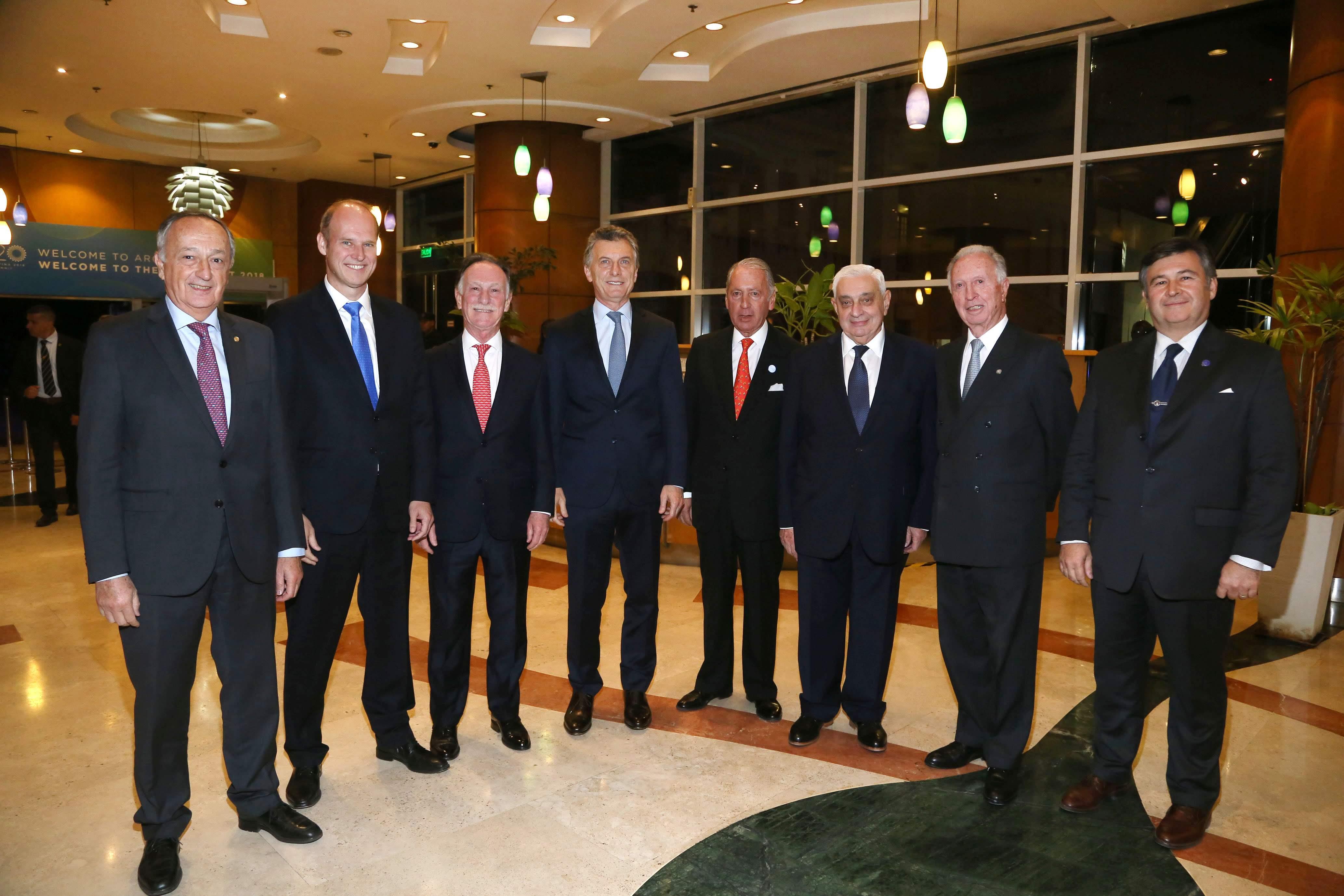 El G6 con Mauricio Macri