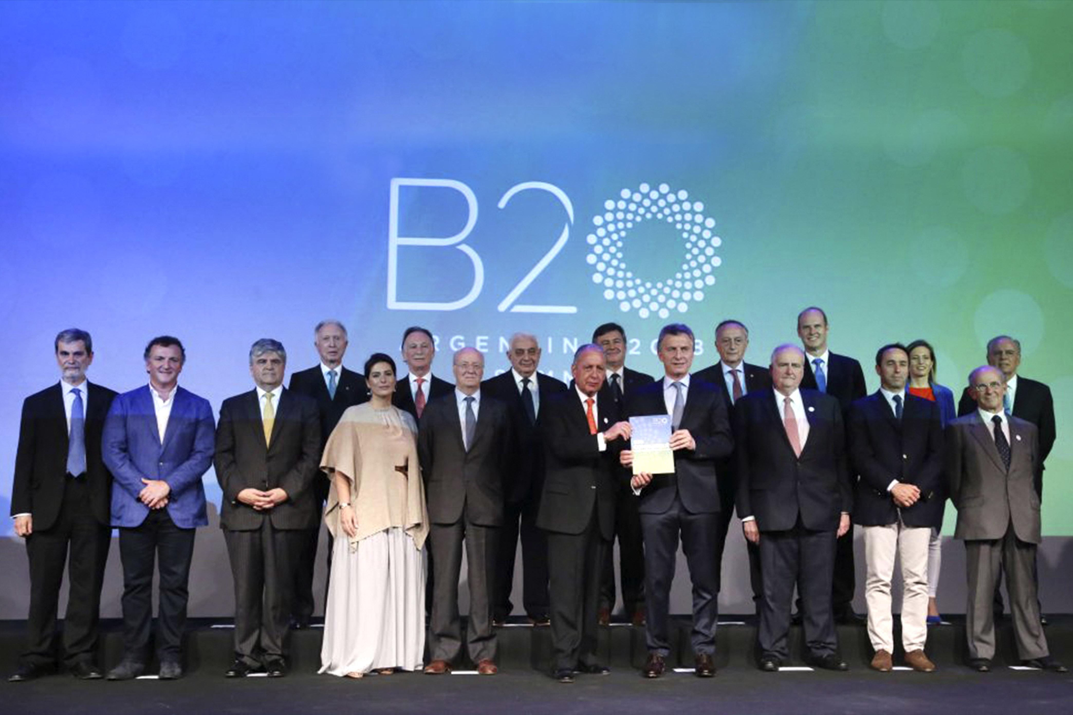 Mauricio Macri recibió el Comuniqué en el que trabajó el B20