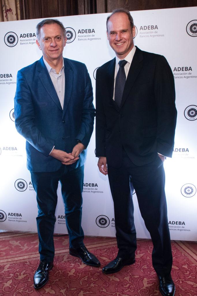 Marcelo Bonelli y Javier Bolzico, presidente de ADEBA